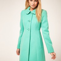 Oasis | Oasis Colored 60&#x27;s Coat at ASOS