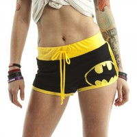 DC Comics Booty Shorts Juniors Girls (Large, Batman)