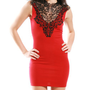 Vintage Mockneck Lace Bodycon        -                DRESSES                    A&#x27;GACI