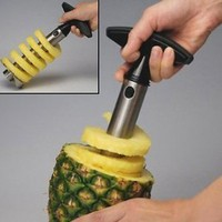 Amazon.com: Stainless Steel Pineapple Easy Slicer, Corer: Kitchen & Dining