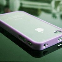 Deep Purple Bumper with Ultra Clear Hard Back Case Cover for the Apple iPhone 4 4S   Free Clear Fro