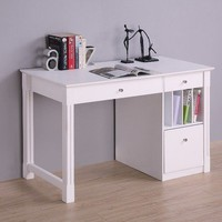 WE Furniture Deluxe Solid Wood Desk - White