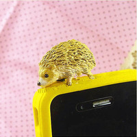 1Pc Big Pretty Cute 3D Hedgehog Animal Dust Plug - Headphone Plug Ear Cap Dust Plug For iphone 5, iPhone 4, iphone 4S, Ipad
