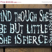 reNEW the Year SALE: She is Fierce  -  Expressive Art on Canvas wall decor for Dorm, Bedroom, Kitchen, Bathroom