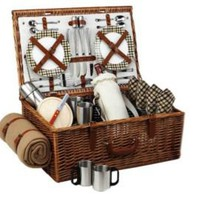 One Kings Lane - Picnic at Ascot - Dorset Picnic Basket w/ Blanket for 4