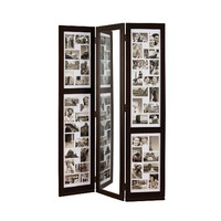 Nexxt PN18734-6 Preston Series Floor Standing Triple Panel Photo Screen with Mirror