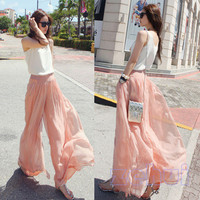 Chiffon Mock Skirt Pants from STREETCARPET