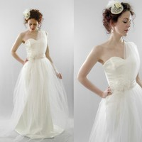 Joslin Soft Tulle Asymmetric Beaded Gown by AlexandraKingBridal