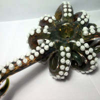 Glass Pipe  OCTOPUS PIPE, Hand Blown, Made to Order, cgge team