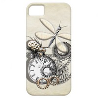 Steam Punk Beetle Dragonfly  Pocket Watch Chains iPhone 5 Cover from Zazzle.com