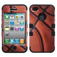 Amazon.com: Hybrid Basketball-Sports/ Black Total Defense Faceplate Hard Plastic Protector Snap-On Cover Case For Apple iPhone 4: Cell Phones &amp; Accessories