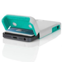 INCIPIO STASHBACK Hybrid Case w/ Credit Card Slot IPH-847 (White/Teal) for Apple iPhone 5