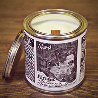 Container candle in tin, soy designer candle by VINTAGE CANDELLA