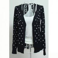 Slim and Elegant V-Neck Heart Patterns Long Sleeves Coat For Women China Wholesale - Sammydress.com
