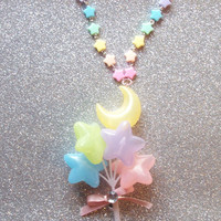 Pastel Moon and Stars Balloon Necklace
