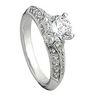 0.33 Carat (Ctw) 14k White Gold Round Diamond Semi Mount Ladies Bridal Engagement Ring 1/3 Ct (No C