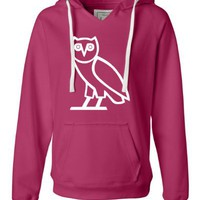Wildberry Ladies Owl Ovo Ovoxo Drake October's Very Own Deluxe Soft Fashion Hooded Sweatshirt Hoodi