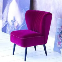 French fifties slipper chair - magenta