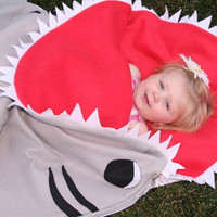 Great White Shark Sleeping Bag by Bitezzz by Bitezzz on Etsy