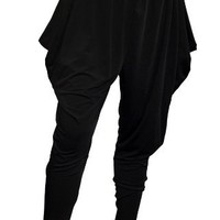 Plus Size Harem Pant Black