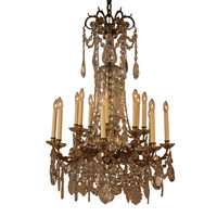 1STDIBS.COM - Artisan Lamp Co - FRENCH CRYSTAL CHANDELIER