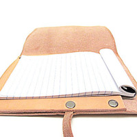 Leather Notepad with Replaceable Pads Made in USA