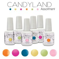 Gelish CANDYLAND Collection Set 6 Soak Off Colors Nail Harmony Gel Candy Land