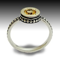 Citrine ring from Sterling silver combined yellow by artisanlook