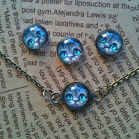 Alice in wonderland art pendant necklace by Victorianstudio