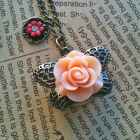 Beauty of rose Pocket Watch Necklace by Victorianstudio on Etsy