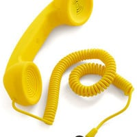Call to Charm Cell Phone Handset in Yellow | Mod Retro Vintage Electronics | ModCloth.com