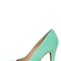 Anne Michelle Adoncia 01 Mint Pointed Pumps