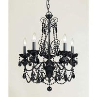 Mischief Black Five Light Chandelier Af Lighting Candles Without Shades Chandeliers Ceilin