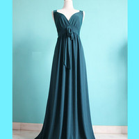 Green Evening Formal Dress Long Maxi Dress Women Dress Prom Wedding Bridesmaid Dress