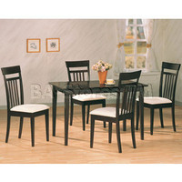 Andrews 5 PC Dining Set (Table, 4 Chairs) - Coaster Co. | Dining sets