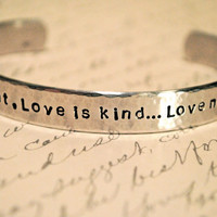 Love is Patient Love is KindLove Never Ends by BerkeyDesigns