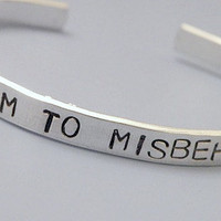 Misbehave Stamped Cuff Serenity Firefly Custom by Serenitystorms