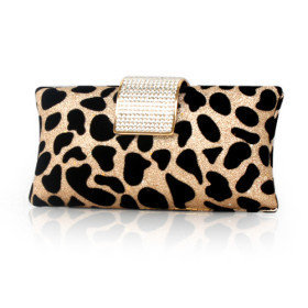 Gorgeous Velvet With Shining Rhinestones/ Sequins Evening Bag Handbag Purse Clutch - $48.34