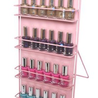 Nail Polish Rack 4 Tier Pink (Free Standing or Wall Mount) (Please try our Expedited shipping optio