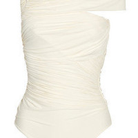 Clube Bossa | Couture asymmetric ruched swimsuit | NET-A-PORTER.COM