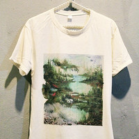 Bon Iver T-Shirt Tee Shirt Punk Rock Women T Shirts Off White TShirt Size M
