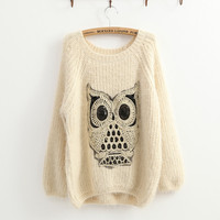 Twinking Owl Jumper Sweater-EMS