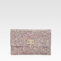 Anya Hindmarch - Valorie Multi-Glitter Clutch - Saks.com