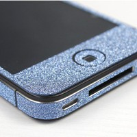 Shiny Blue Rhinestone Fashion Sticker For iPhone 4S/5