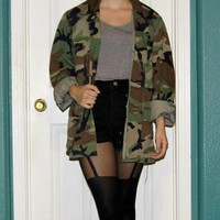 Army Camo Jacket (size sm)