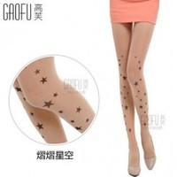 Wholesale Fashion tights with tattoo design GF-8110 twinkle star 120D - Lovely Fashion