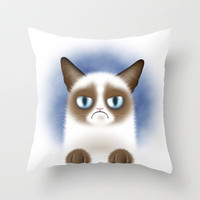 Nope Throw Pillow by Liz Molnar | Society6
