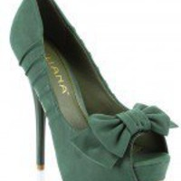 Liliana Carinthia-8 Bow Peep Toe Pump