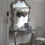 Clarissa Silver Marble Top Console Table - Sweetpea &amp; Willow London