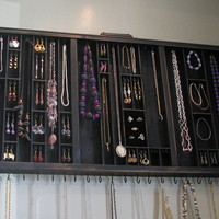 Printers Drawer Jewelry Display with ring by BlackForestCottage